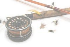 Fliegen-Fischen-Web-Hintergrund Stockfotos