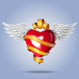 Fliegen-Herz Lizenzfreies Stockfoto