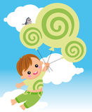 Fliegen mit dreamstime Stockfotos