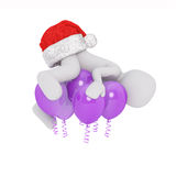 Fliegen mit heliumballons Royalty Free Stock Image