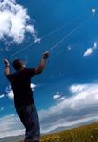 Fliegen Sie einen Drachen stockfotografie