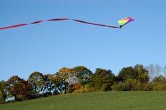 Fliegen Sie einen Drachen Stockbild