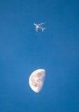 Fliegen Sie mich zum Mond Stockfoto
