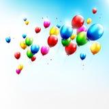 Fliegenballone lizenzfreie abbildung