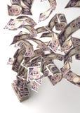 Fliegende japanische Yen Stockbild