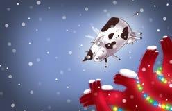 Fliegende Kuh des neuen Jahres Stockfotos