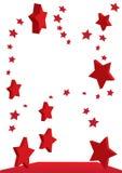 Fliegende rote Sterne Lizenzfreie Stockfotos