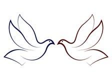 Fliegende Taube Stockfoto