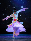Fliegender bunter Rock-nationaler Tanz Stockfotografie