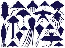 Fliegender Drachen-Festival-Sammlungs-Satz stock abbildung