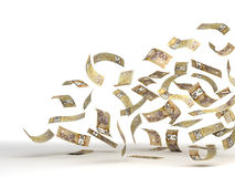 Fliegender kanadischer Dollar Stockfoto