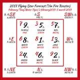 Fliegender Stern prognostizierte 2017 Stockfotografie