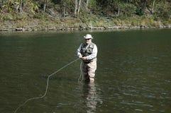 Fliegenfischen Lizenzfreie Stockfotos