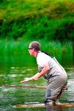 Fliegenfischen (Casting) Lizenzfreie Stockbilder