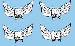 Fliegenkatzen Lizenzfreie Stockbilder