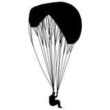 Fliegenpara-Segelflugzeug Stockfotos