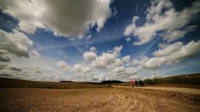 Fliegenwolken stock video footage