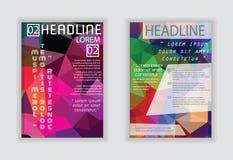 Flieger, Broschüren-Design-Schablonen Geometrische abstrakte moderne Rückseite Lizenzfreie Stockfotografie