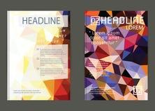 Flieger, Broschüren-Design-Schablonen Geometrische dreieckige Zusammenfassung Lizenzfreie Stockfotos
