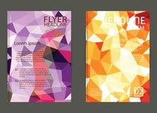 Flieger, Broschüren-Design-Schablonen Geometrische dreieckige Zusammenfassung Lizenzfreie Stockbilder