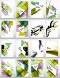Flieger, Broschüren-Design-Schablonen-Satz Lizenzfreie Stockbilder