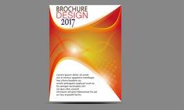 Flieger-Broschüren-Design-Schablonen-Vektor Stockfotografie