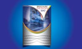 Flieger-Broschüren-Design-Schablonen-Vektor Stockbilder