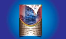Flieger-Broschüren-Design-Schablonen-Vektor Stockfoto