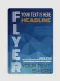 Flieger-, Broschüren- oder ZeitschriftenAbdeckung Schablone Stockbild