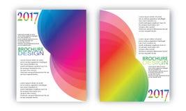 Flieger-Broschüren-Wellen-Design-Schablonen-Vektor Lizenzfreie Stockfotos