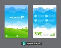 Flieger-Broschürenhintergrundschablone 0002 Stockbilder