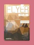 Flieger-Design, Netz-Schablonen Broschüren-Designe Stockbilder