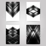 Flieger eingestellt mit einfarbigem geometrischem Design Stockfotos