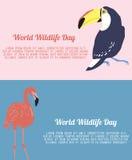 Flieger für Tag der Weltwild lebenden tiere Lizenzfreie Stockfotos