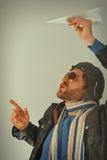 Flieger Man Paper Plane Lizenzfreie Stockfotografie