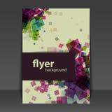 Flieger-oder Abdeckungs-Design mit Quadrat-Muster Backgro Stockbild