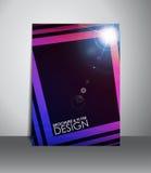Flieger- oder Broschürendesign Lizenzfreie Stockbilder