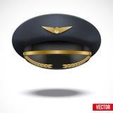 Flieger-Peaked-Kappe des Piloten. Vektor. Lizenzfreie Stockfotografie