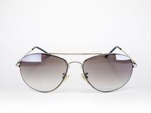Flieger-Sonnenbrille lokalisiert auf Weiß Lizenzfreies Stockfoto