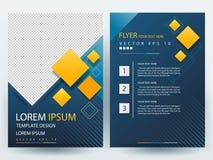 Fliegerbroschüren-Designschablonen des abstrakten Vektors moderne Lizenzfreies Stockbild
