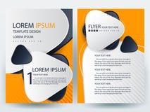 Fliegerbroschüren-Designschablonen des abstrakten Vektors moderne Stockfotos