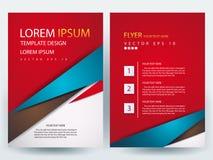 Fliegerbroschüren-Designschablonen des abstrakten Vektors moderne Lizenzfreie Stockbilder