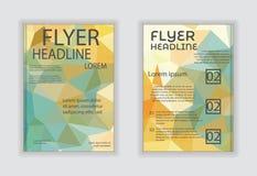 Fliegerbroschüren-Designschablonen des abstrakten Vektors moderne mit busi Lizenzfreie Stockfotos