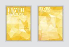 Fliegerbroschüren-Designschablonen des abstrakten Vektors moderne mit busi Lizenzfreie Stockbilder