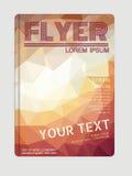 Fliegerbroschüren-Designschablonen Geometrische Zusammenfassung der Elemente Lizenzfreie Stockfotos