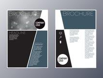 Fliegerdesign-Schablonenvektor a4 des blauen Grüns moderner Stockfotografie