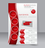 Fliegerschablone Blaue abstrakte Planschablone mit Quadraten Editable Plakat A4 Lizenzfreie Stockbilder