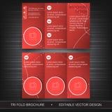 Fliegerschablonen-, -broschüren- oder -abdeckungsdesign des Geschäfts dreifachgefaltetes Lizenzfreie Stockfotografie