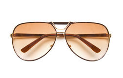 Fliegersonnenbrille lokalisiert auf Weiß Lizenzfreies Stockfoto
