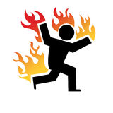 Fliehen Sie das Feuer Stockbilder
